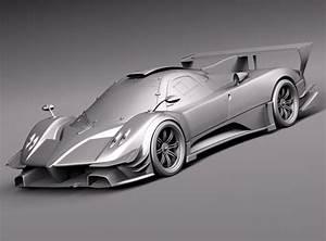 Pagani Zonda Revolucion 2013 3d Model  Max  Obj  3ds  Fbx