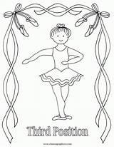 Ballet Coloring Ballerina Dance Position 3rd Aiden Third Positions Nutcracker Imagenes Reproducible Bailarinas Class Popular Crafts Dibujos Printables Adults Result sketch template