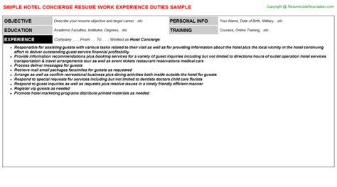 Hotel Security Description Resume by Concierge Duties Resume Security Guards Companies