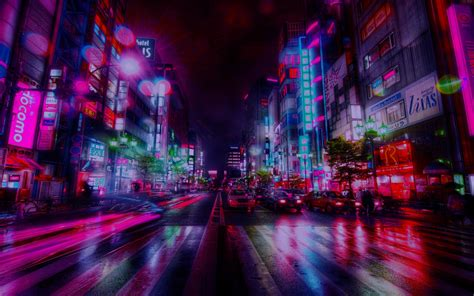 Glitch Purple Neon Aesthetic Wallpaper by 56 Best Free Sunset Aesthetic Vapor Wallpapers