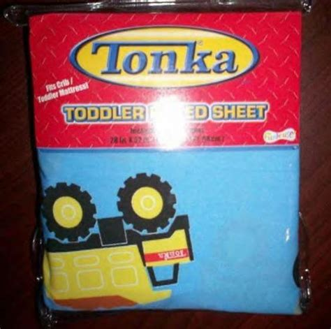 tonka toddler bed nip tonka trucks fitted toddler bed or crib sheet blue