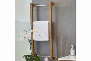 Porte Serviette Echelle Bois : echelle porte serviette en teck la galerie du teck ~ Teatrodelosmanantiales.com Idées de Décoration