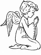 Angels Angel Christmas Coloring Printable Pages Praying Clipart Clip God Sheets Drawing Popular Library Coloringhome Cute Webstockreview Clipground Books sketch template