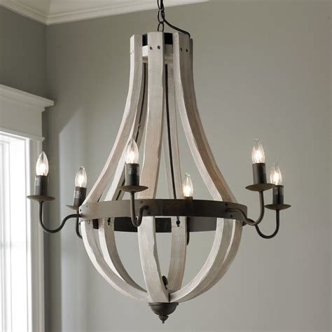 wooden wine barrel chandelier shades of light