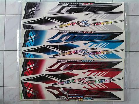 jual striping sticker lis variasi motor yamaha nouvo z mx