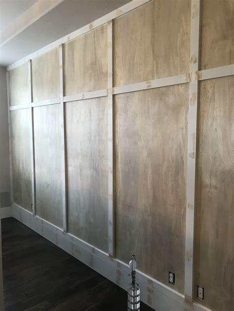 board  batton wall diy   thin sanded plywood