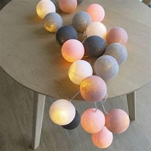 Cotton Balls Lichterkette : cotton ball lights 20 er lichterkette rosa altrosa wei grau b lle led ku ebay ~ Frokenaadalensverden.com Haus und Dekorationen