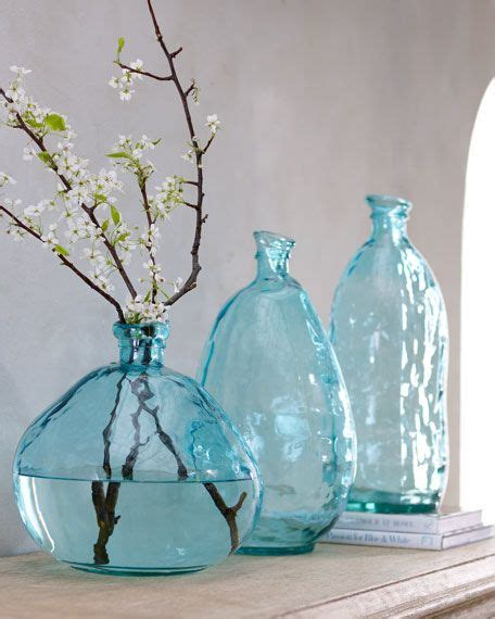 Teal Colored Vases by Teal Blue Glass Vase Accessories Master Bedroom