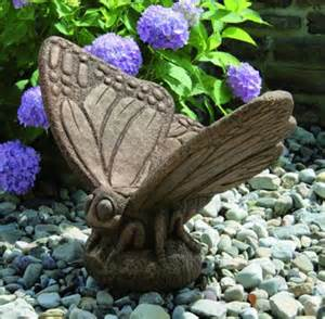 butterfly cement garden sculpture large