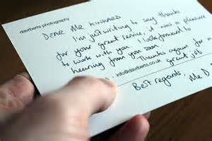 Writing a professional thank you note