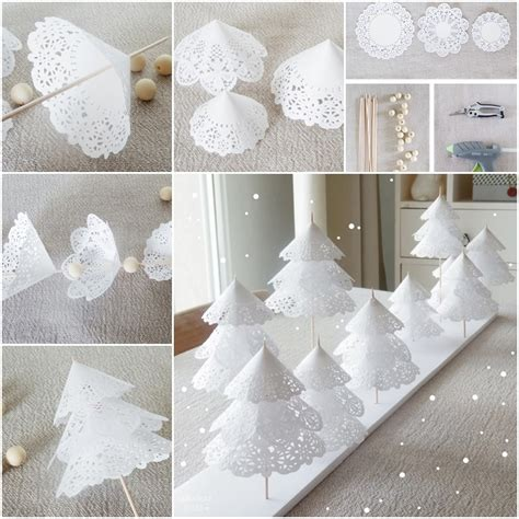 Cute Wedding Decorations by Diy Paper Doilies Christmas Tree