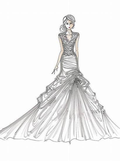 Coloring Pages Printable Clothing Dresses Adults Popular