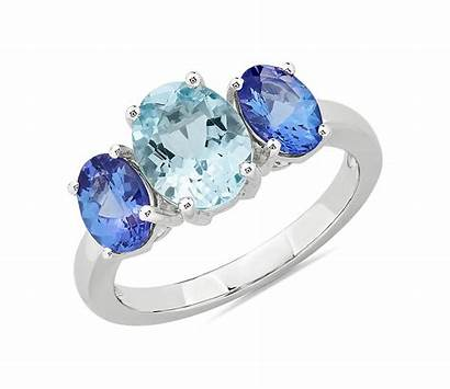 Aquamarine Ring Gold Tanzanite 14k Bluenile Nile