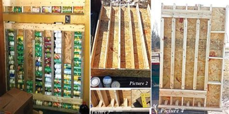How To Build A Vertical Storage Rack For Cans   Home