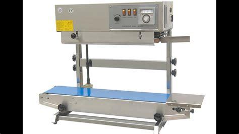 vertical continous band sealer vertical continuous bag sealing machine macchina tenuta verticale