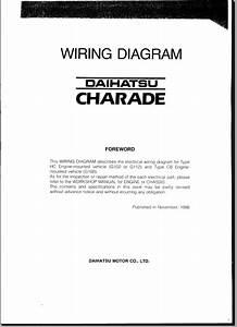 Daihatsu Charade G30 Wiring Diagram