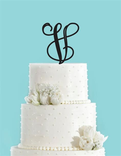 monogram personalized letter  custom cake topper unique traditional chickdesignboutique