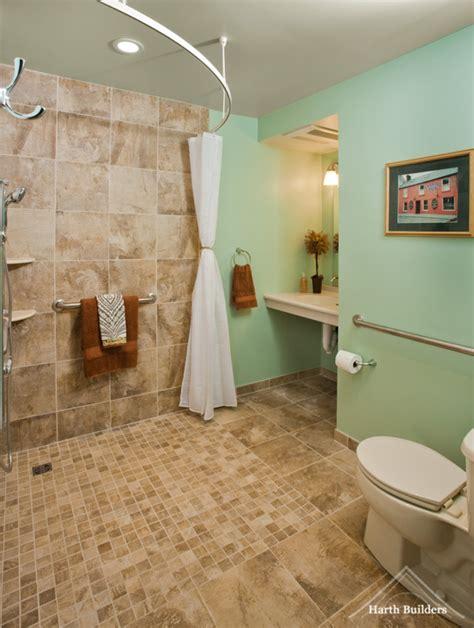 accessible bathroom designs wheelchair accessible bathroom by harth builders