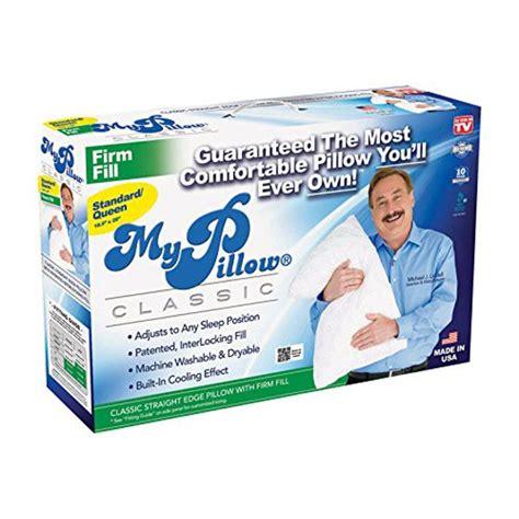 walmart my pillow as seen on tv my pillow standard size pillow firm