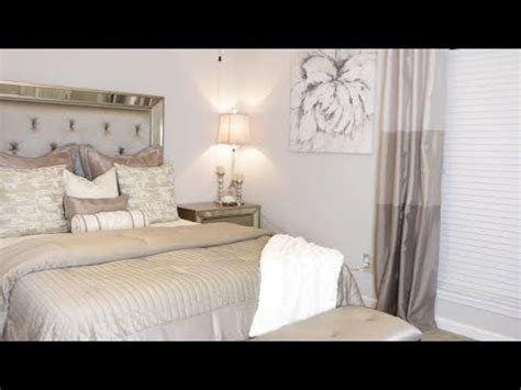 simple glam master bedroom makeover small space