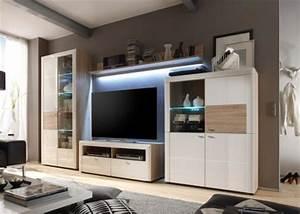 Wohnwand Bis 200 Euro : wohnzimmerschrank eiche weiss g nstig online kaufen yatego ~ Frokenaadalensverden.com Haus und Dekorationen