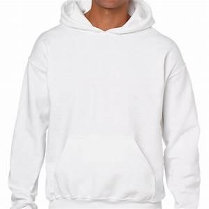 Básicas / Lisas Sudadera urbana lisa con capucha blanca