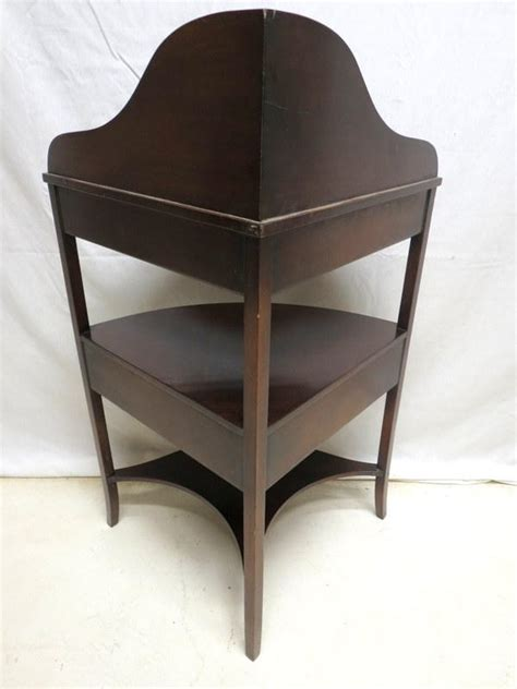 Corner Etagere Cabinet by Antique Mahogany Corner Etagere Cabinet Curio Display 3