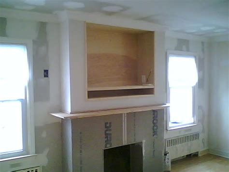 gas fireplaces  tv  built  wall entertainment