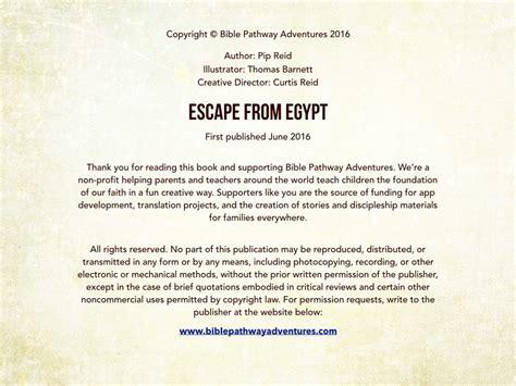 escape  egypt bible pathway adventures