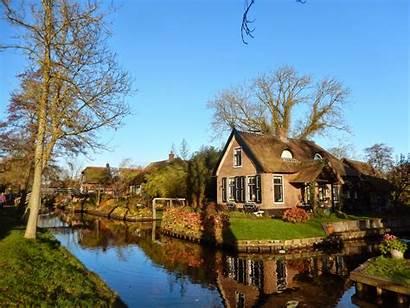 Village Giethoorn Netherlands Overijssel Venice North Travel