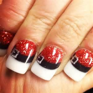 Black and white christmas nail art ideas