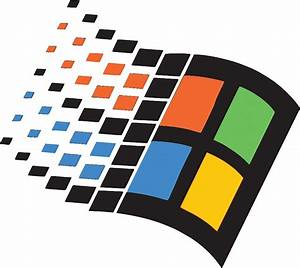 """WINDOWS 95 LOGO RETRO"" Stickers by vulgaris1901 Redbubble"