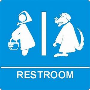 Funny Bathroom Signs For Fairy Tales, Jedis and X-men