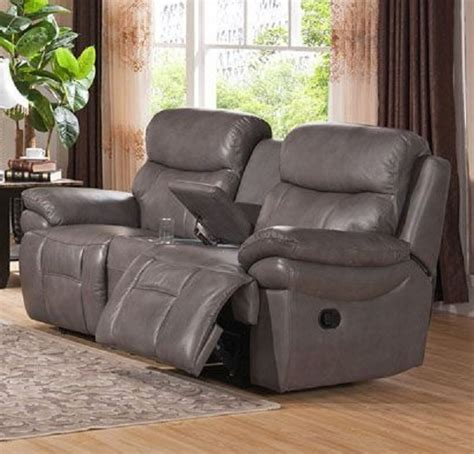 Top Grain Leather Loveseat by Summerlands Top Grain Leather Reclining Loveseat