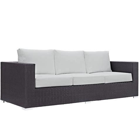 Outdoor Sofa Rattan by Convene Modular Rattan Outdoor Patio Sofa W Cushions