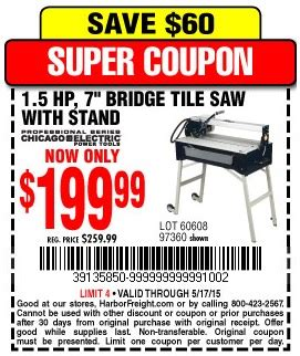 Tile Saw Stand Harbor Freight by Harbor Freight Tools Coupon Database Free Coupons 25