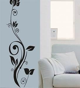 Wall art decor teal standing flower sticker by