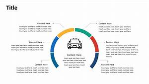 6 Steps Circular Diagram Ride Hailing Concepts