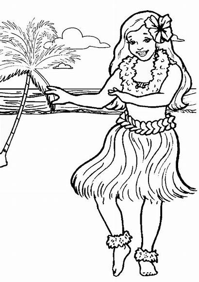 Coloring Pages Luau Lua Printable Site Designlooter