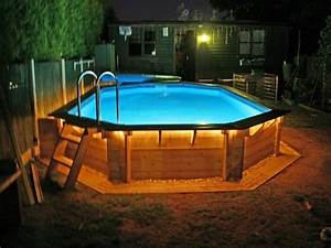 Outdoor deck lighting ideas pool design ideas for Above ground swimming pool deck designs