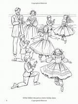 Coloring Nutcracker Pages Ballet Ballerina Dance Sheets Books Adult Christmas Holiday Printable Fairy Plum Colouring Sugar Dover Brenda Clara Boy sketch template