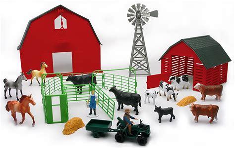 Newray Farm Set With Red Barn, Windmill, & Animal Play Set