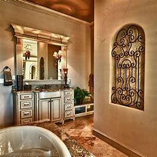 Love The Iron And Tiles Niche  Tuscan Old World French