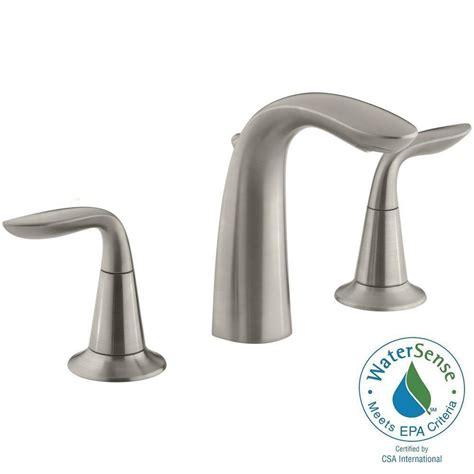 widespread bathroom sink faucet kohler refinia 8 in widespread 2 handle bathroom sink