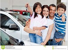 Family With Keys Of New Car Stock Image Image 23846017