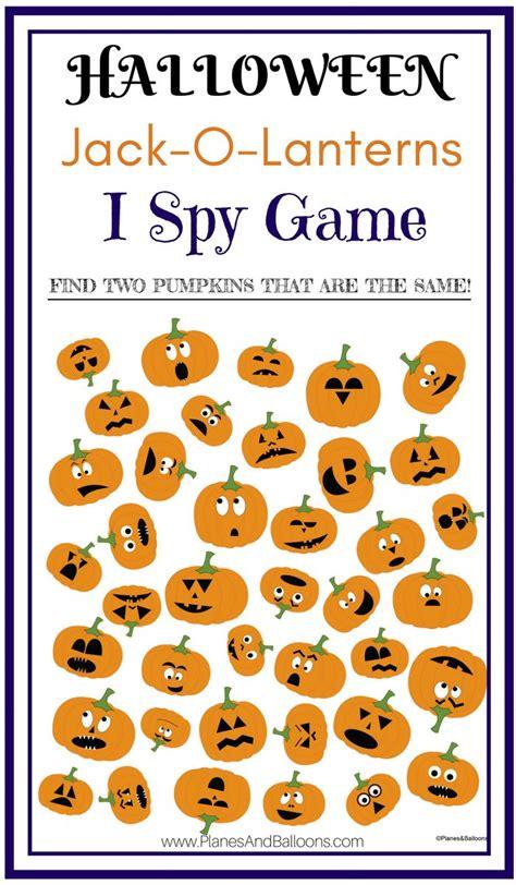 jack  lantern  spy printable worksheets game