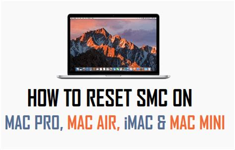 smc fan control imac how to reset smc on macbook pro air imac and mac mini