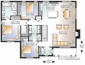 Plan Grande Maison : plain pied 3 chambres grande cuisine dessins drummond ~ Melissatoandfro.com Idées de Décoration