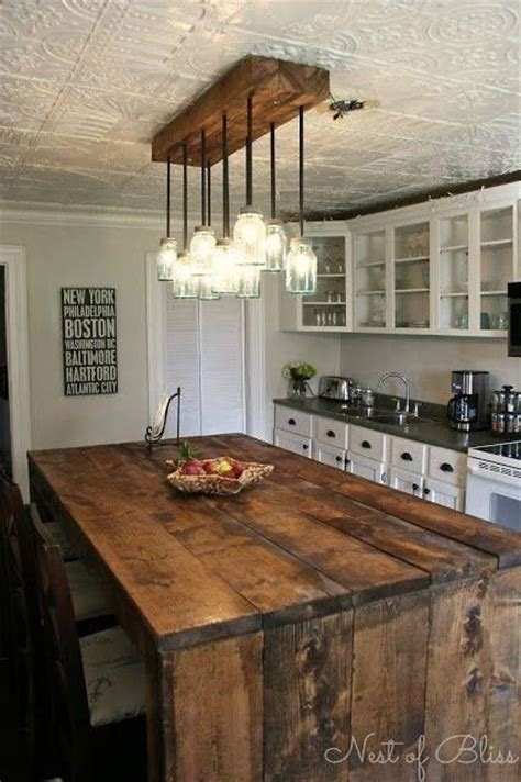 kitchen island and table lighting diy rustic kitchen island overhead lighting yes please