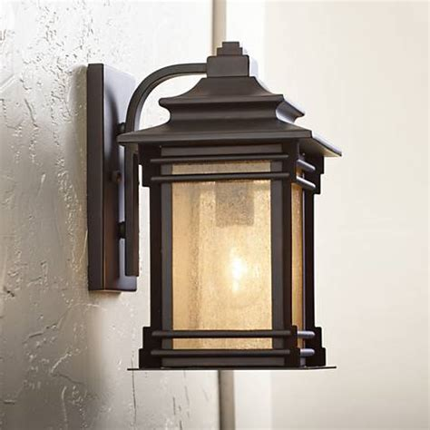 franklin iron works hickory point 12 quot high outdoor light